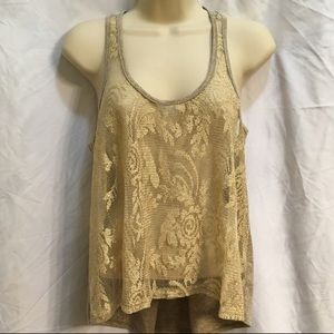 Women's Gold Shimmer Top